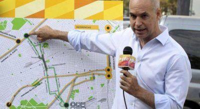 Larreta prometió un metrobus transversal para unir Palermo y Pompeya