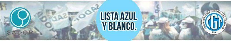 Conferencia de prensa de la Lista Azul y Blanco SADOP en Mar del Plata