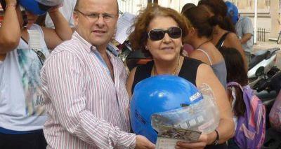Semana de la Seguridad Vial: Entregaron cascos