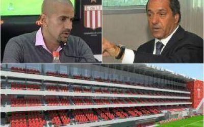 Estudiantes: Verón le presentó el proyecto del nuevo estadio a Scioli