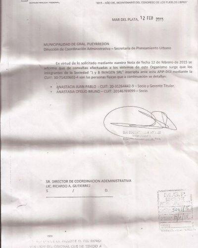 Castorina intimó a los responsables de la demolición ilegal del chalet Delfina de Grattarola