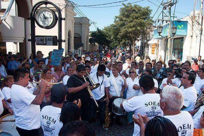 Municipales del SOEM se manifestaron en el CD exigiendo el tratamiento de la recategorización