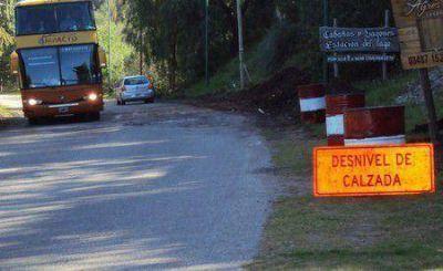Se reparar� la rotura de la Ruta 18 cerca de la Quebrada de Los C�ndores