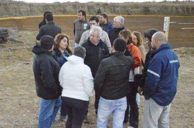 Peralta visitó obras de la red hídrica en Zona Norte