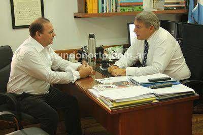 Oscar Duch� fue recibido por el Senador Jorge D'Onofrio, pusieron foco en la Inseguridad y el Narcotr�fico pace�o.