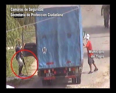 Roban camión con armas largas y los detectan las cámaras del COT