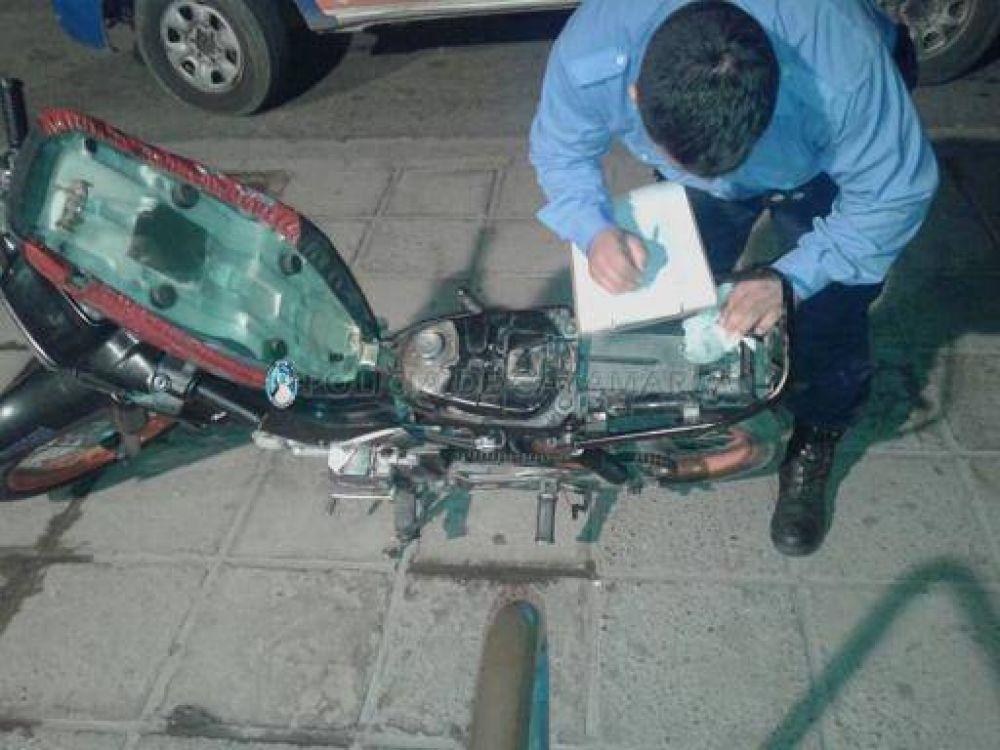 Atrapan a dos ladrones de motos en el norte de la Capita