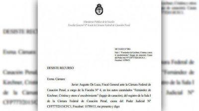 Cuáles son los argumentos del dictamen del fiscal De Luca para rechazar la denuncia de Nisman