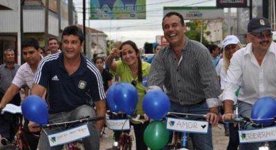 Daniel Capitanich encabezó una bicicleteada por Sáenz Peña