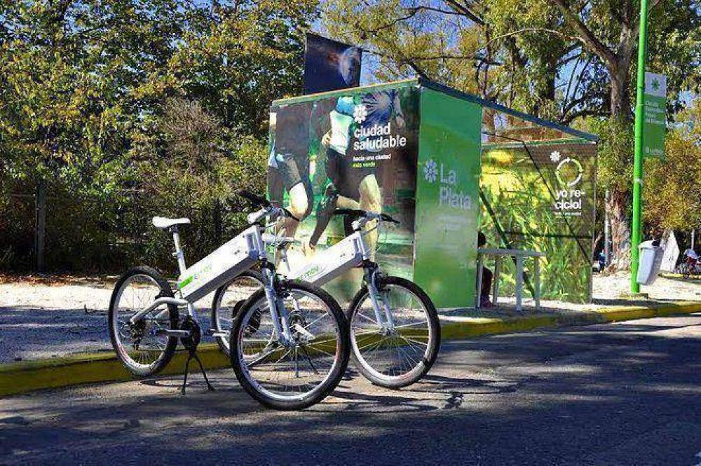 Ya rueda en el Bosque de La Plata la primera bicicleta eléctrica de Latinoamérica