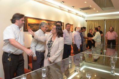 Dirigentes del FCyS apoyaron el proyecto de Luc�a Corpacci