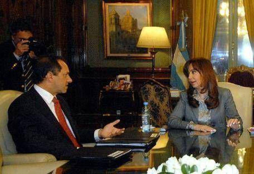 Cristina recibió a Scioli y al rionegrino Saiz