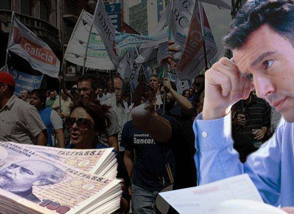 Los bancarios rechazaron una nueva suma