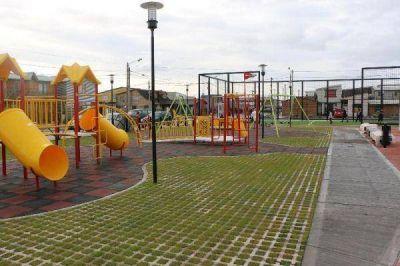 Este jueves se inaugura la nueva plaza integradora del barrio Evita
