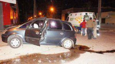 Violento choque en la esquina del Acceso Alfonsín y Av. de los Fundadores