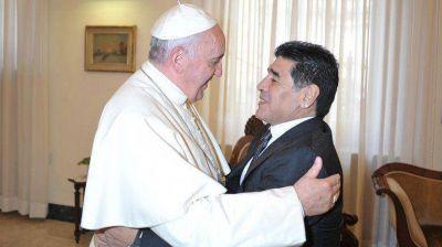 Maradona visitó al Papa: