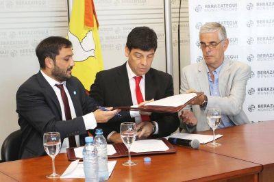 Pusieron su firma para la construcción del Centro Público de Medicina Nuclear y Radioterapia en Berazategui