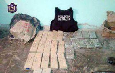 Secuestraron 42 kilos de marihuana y 9 de cocaína en la capital de Salta