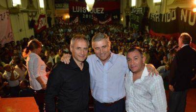 Aguad debutó en campaña en un acto del Frente Cívico