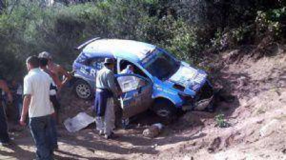 Nalbandian volcó en el Rally Argentina, pero no se hizo nada