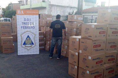 Recuperaron mercadería valuada en más de 1 millón y medio de pesos