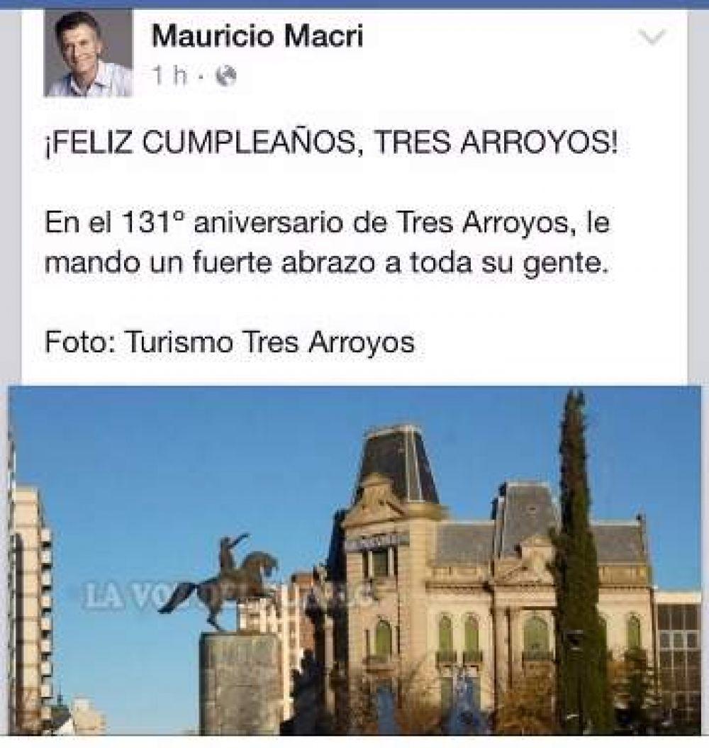 Mauricio Macri adhirió a los saludos