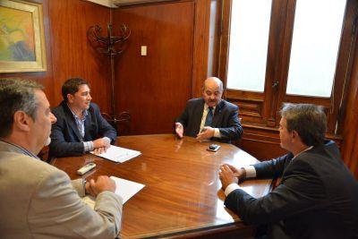 Darío Golía y Marcelo Leyría se reunieron con autoridades de la Universidad