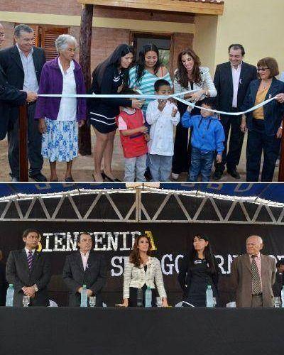 La Gobernadora habilitó obras trascendentales para Sol de Mayo