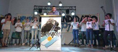 Conti y Matias encabezaron un acto de La Cámpora en Vicente López