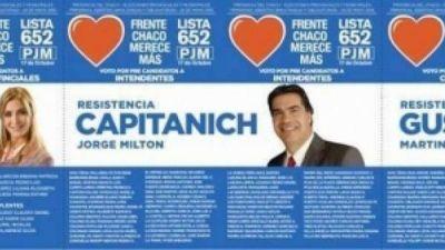 Pol�mica en Chaco por una boleta electoral con foto de Capitanich