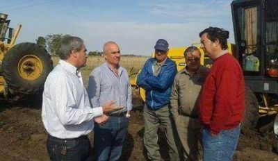 El intendente Echeverría visitó Ramos Otero