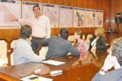 Capitanich y el CAF evaluaron el Plan Director de Cloacas de General San Martín