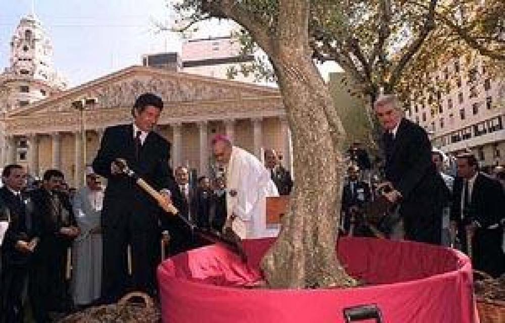 """Inauguran el """"Camino de la Paz"""" para llegar al Olivo del Papa"""