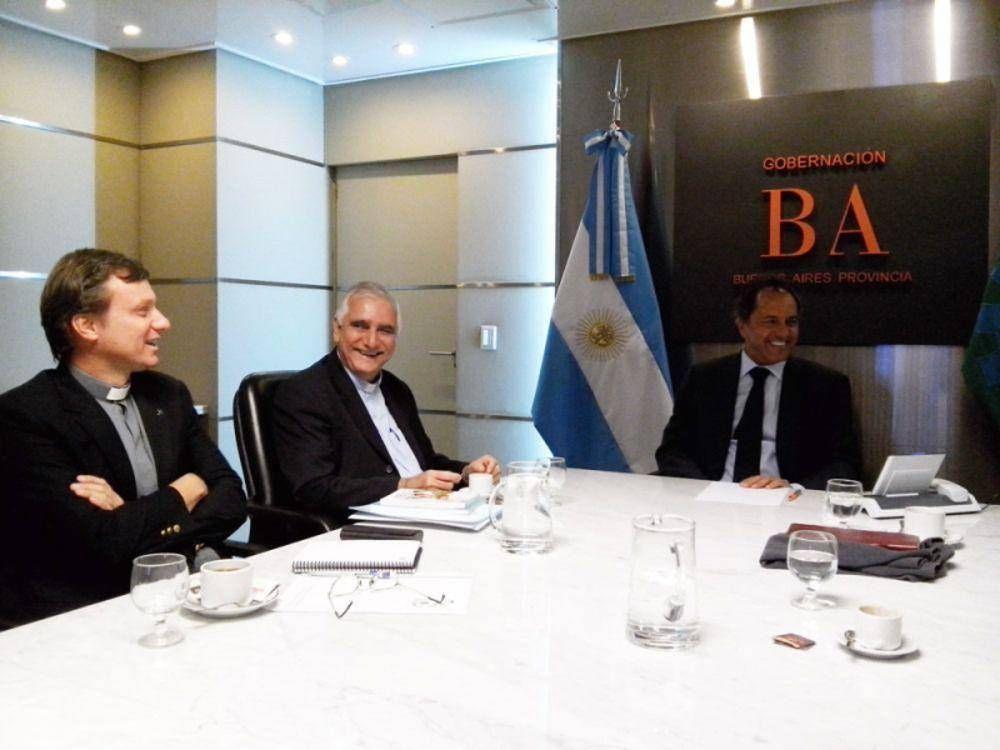 Monseñor Lozano se reunió con el gobernador Daniel Scioli