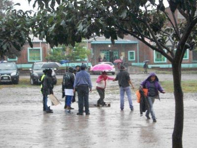 Las lluvias merman pero aún continúan presentes