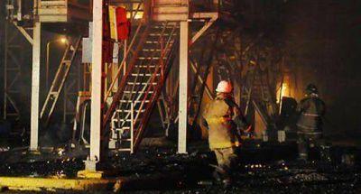 Protestas y fuego en la planta de Dreyfus