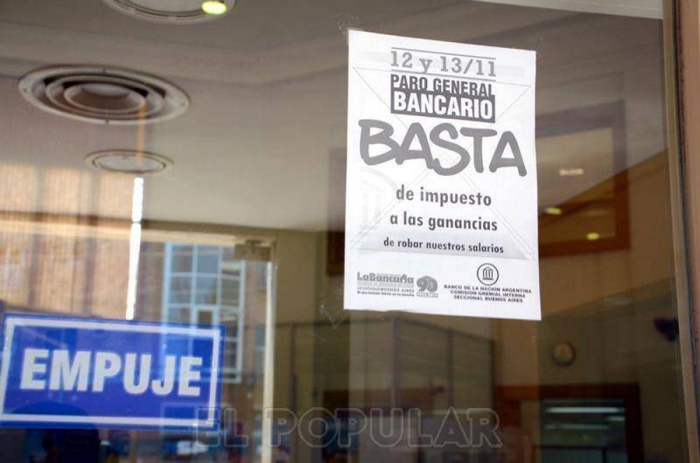 La Bancaria realizará un nuevo paro reclamando por paritarias y ganancias