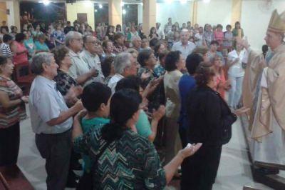 Monse�or Torrado presidi� misa por la Cofrad�a V. del Valle