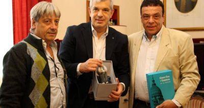 Giovanettoni estuvo en Zárate con Julián Dominguez y la Uom