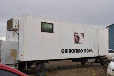 Este lunes habilitan el Quirófano Móvil en Chacra XIII para servicios veterinarios