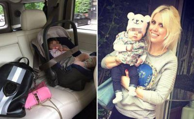 Wanda Nara y una foto con Francesca que despertó críticas por la seguridad del bebé