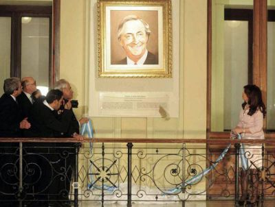Insfran acompaño a la presidenta en el acto homenaje a Néstor Kirchner