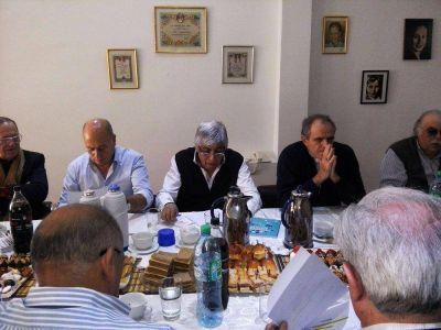 El obispo Jorge Casaretto se reunió con la CGT Moyano