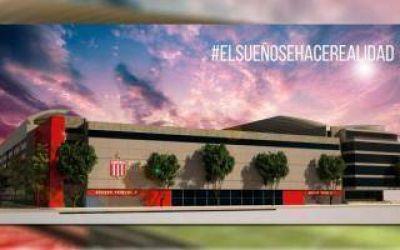 Verón presentó avances del nuevo estadio de Estudiantes