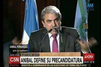 Se lanzó Aníbal Fernández: