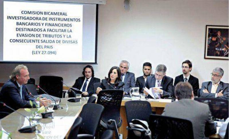 La bicameral convocará a nueve bancos en la investigación por evasión y fuga