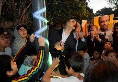 Santa Rosa de Lima: se inauguraron nuevas obras de iluminación