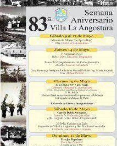 Difunden el programa para el 83� Aniversario de la localidad
