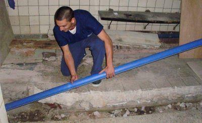 Renovaron cañerías de agua caliente para mejorar la calefacción del Higa