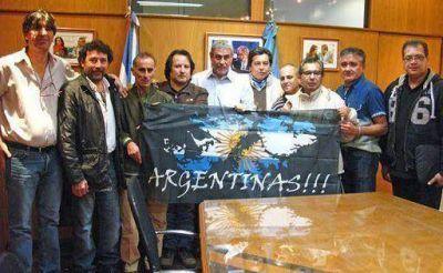Ferraresi recibió a la Comisión Asociación Civil Combatientes de Malvinas